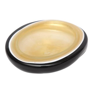 Camer Glass New York Glass Inspired Abalone Look Dish, 1960s, USA