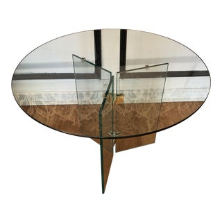 Pierre Cardin Vintage Glass and Brass Coffee Table