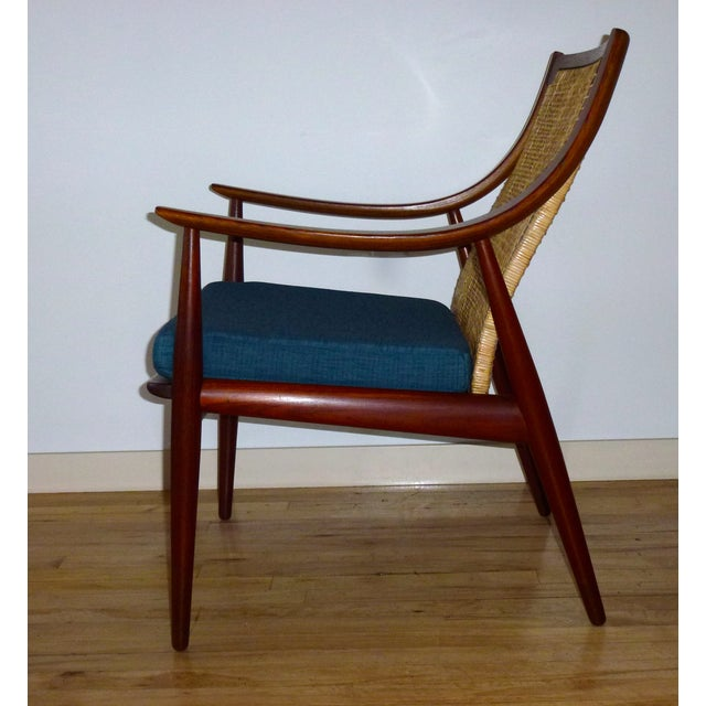 Danish Modern Peter Hvidt Cane Back Chair - Image 3 of 7