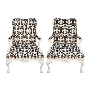 French Fauteuil Armchairs - A Pair