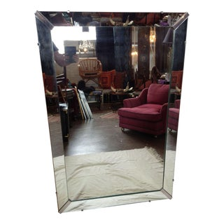 Large Deco Style Beveled Mirror
