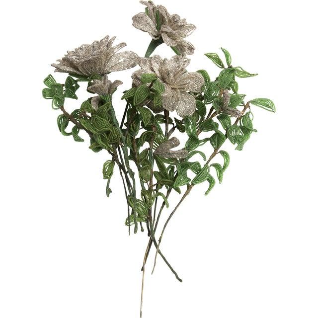 Vintage Bouquet of Venetian Beaded Flowers - Image 1 of 2