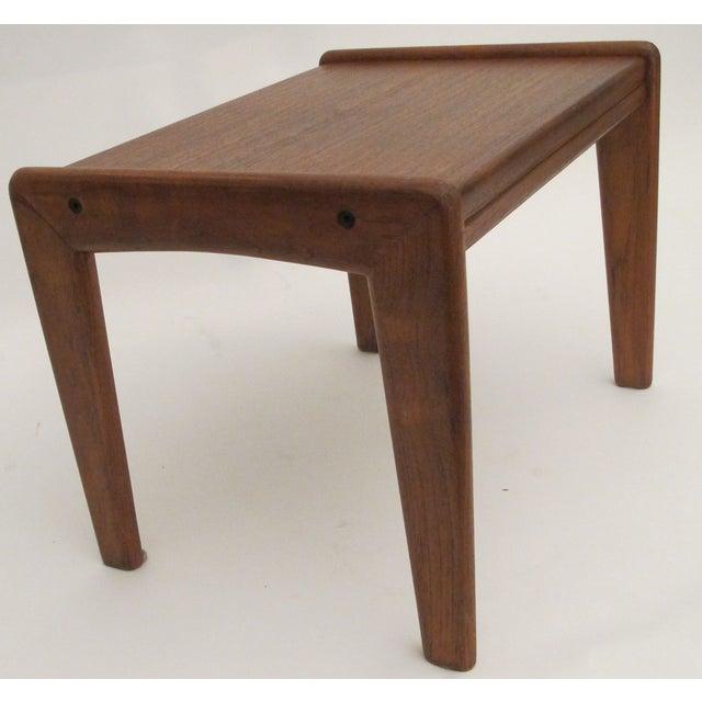 1960s Danish Teak Wood Stool - Image 4 of 4