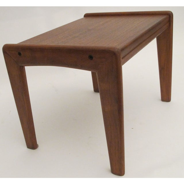 Image of 1960s Danish Teak Wood Stool