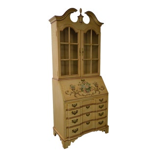 Jasper Hand Paint Decorated Chippendale Style Secretary Desk