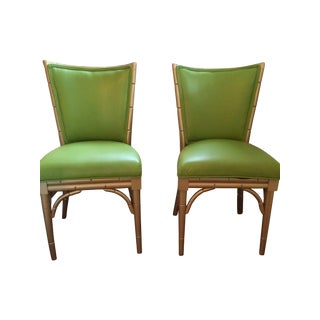 Faux Bamboo Side Chairs - A Pair