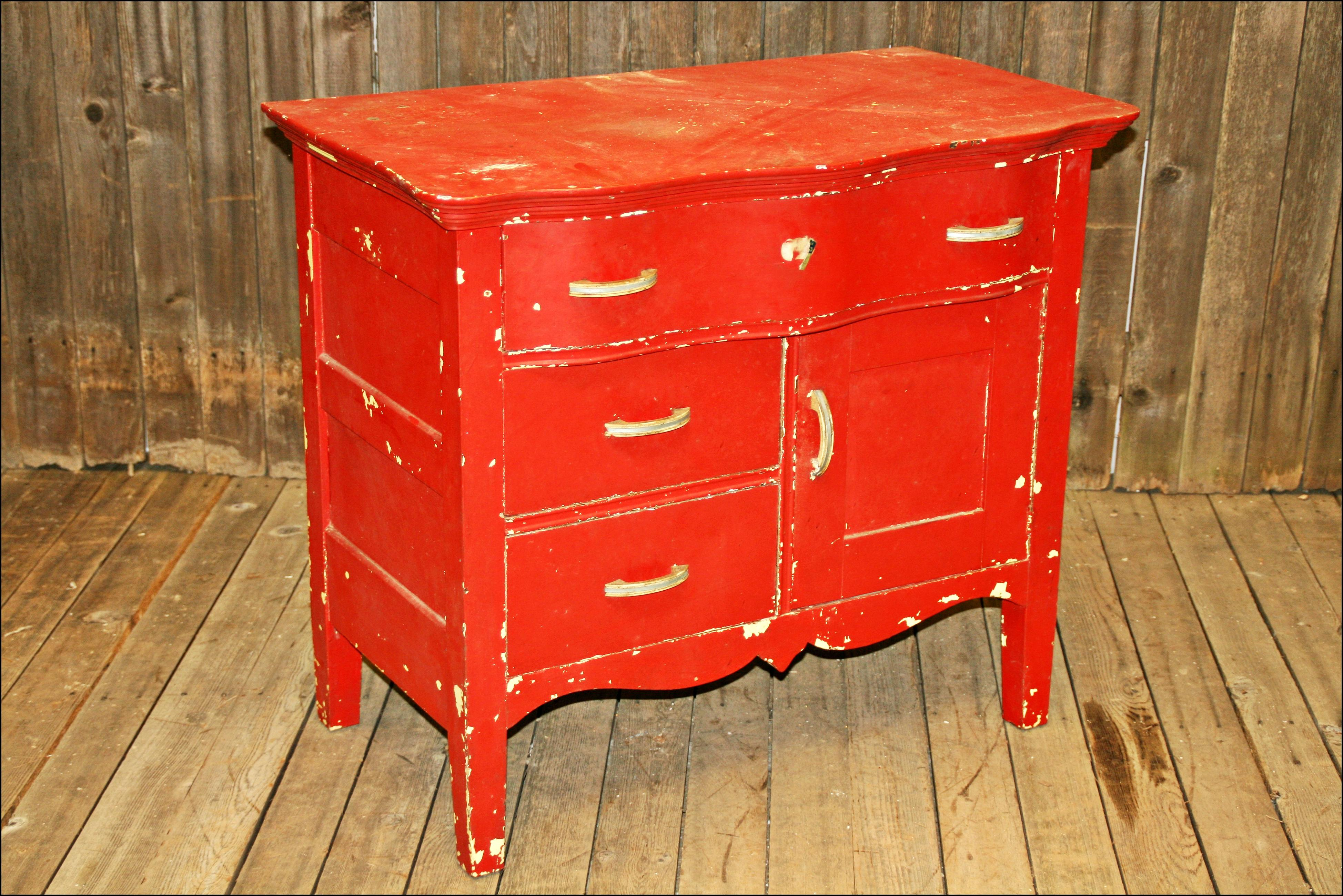 shabby chic red furniture. image of vintage red shabby chic dresser furniture s