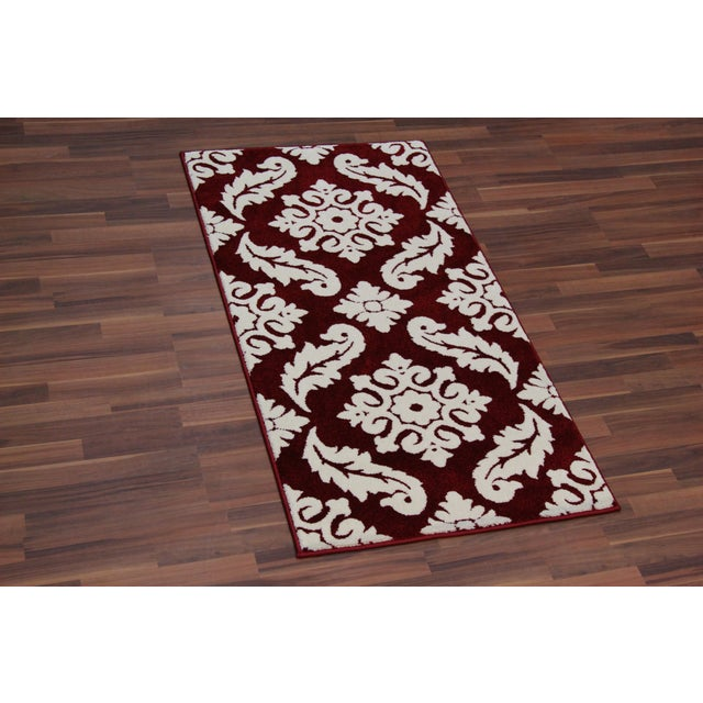 Transitional Red Trellis Rug - 3′ × 5′ - Image 2 of 4