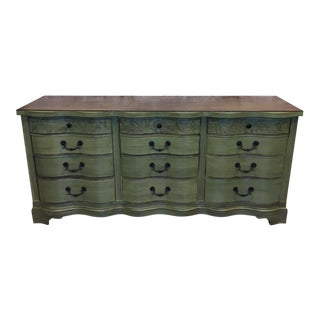 Shabby Chic Triple Bow Front 12 Drawer Dresser