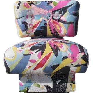 Modernist Designer Chair by Randy Esada Designs Featuring Diane Von Furstenberg Fabric