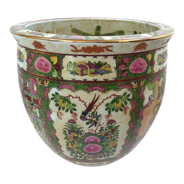 Vintage Asian Goldfish Bowl - Image 1 of 9