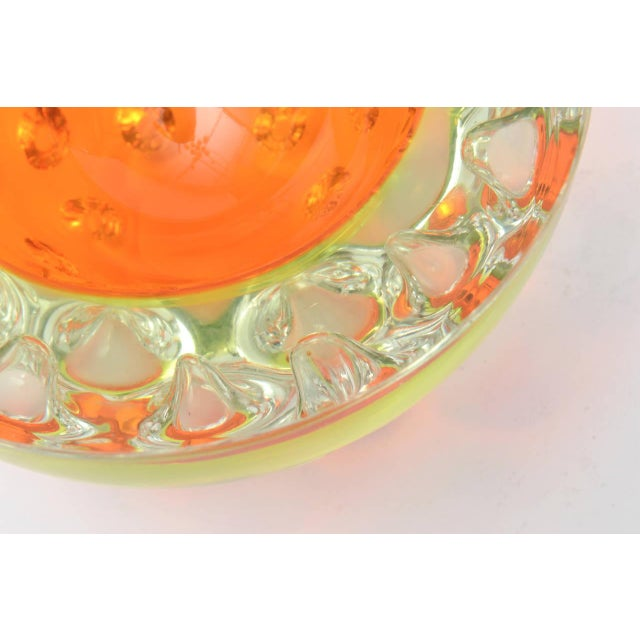 Rare Italian Murano Sommerso Dimpled Geode Glass Bowl - Image 7 of 9