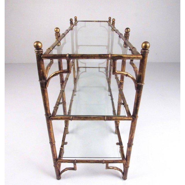 Faux Bamboo Gilt Console Table - Image 6 of 7