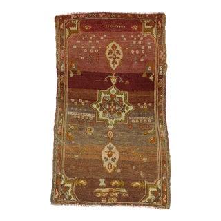Vintage Oushak Rug - 3′1″ × 5′1″