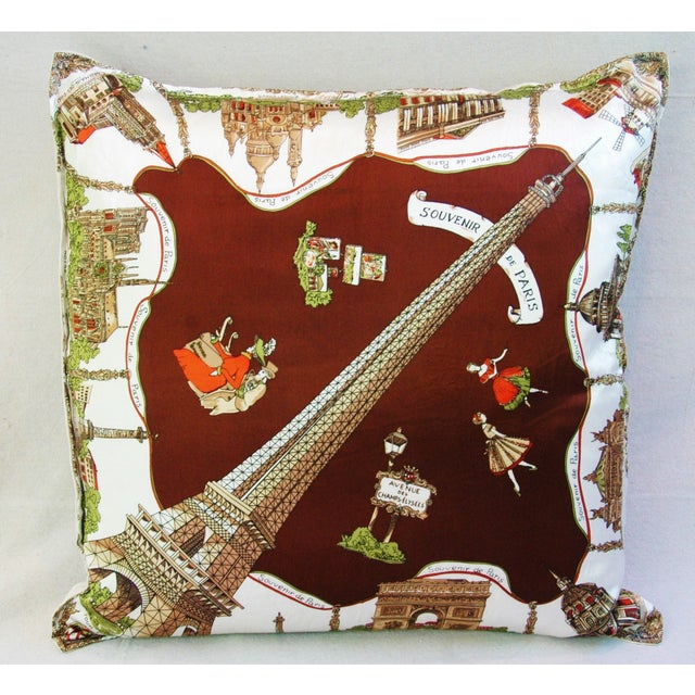 Souvenir de Paris Silk Scarf Pillow - Image 2 of 8