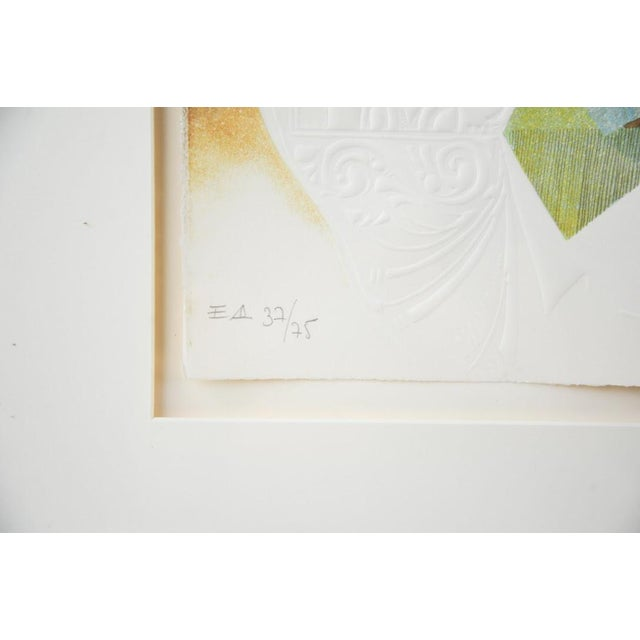 "Image of Original Sunol Alvar Embossed Lithograph ""La Diligence and La Folie"""