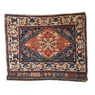 "Antique West Persian Square Bag Face Rug Mat - 2'6"" x 2'"