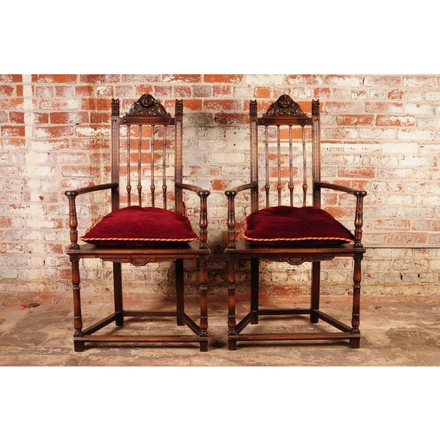 19th Century Reinassance Side Chairs - A Pair - Image 2 of 11