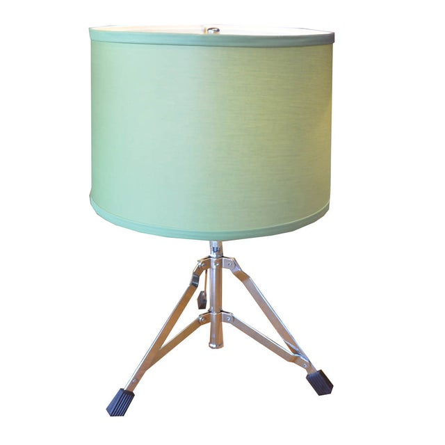 Image of Green Drum Kit-Themed Lamp