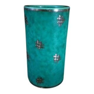 Antique Gustavsberg Argenta Vase
