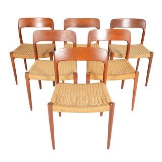 Møller Model 75 Dining Chairs - Set of 6