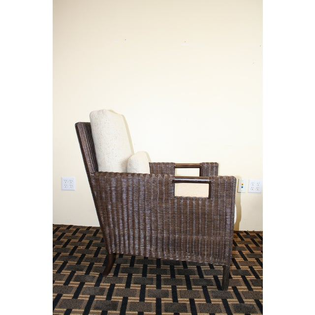 McGuire Thomas Pheasant Woven Core Club Chair - Image 4 of 8