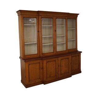 Antique 19th Century Pine Monumental Bookcase