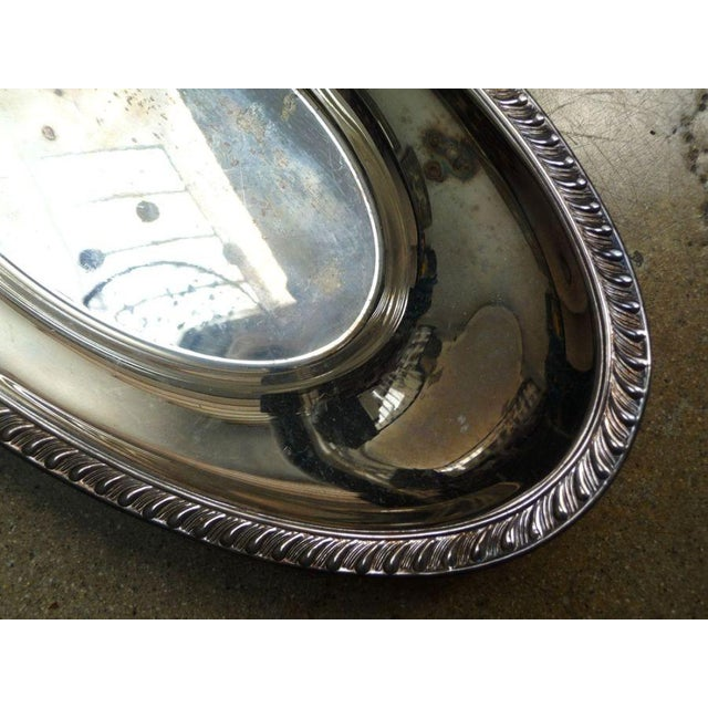 Antique Silver Oval Tray - Image 3 of 4