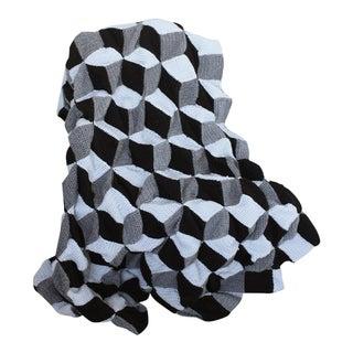 Geometric 3D Op Art Blanket