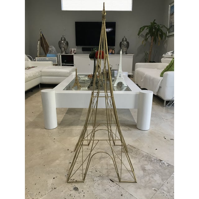 "Giant Eiffel Tower Sculpture Iron & Rare 46"" tall 18"" wide. - Image 6 of 11"