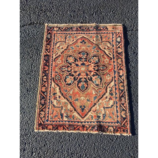 """Vintage Persian Heriz Door Mat Rug - 2'1"""" x 2'8"""" - Image 2 of 8"""