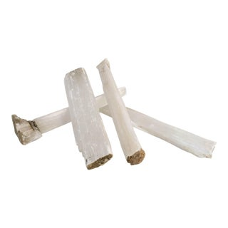 Effervescent Fireplace Decorative Selenite Mineral Crystals - Set of 4