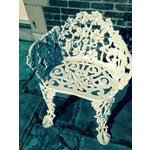 Image of Antique Cast Iron Garden Bench