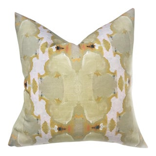 'Under the Sea' Taupe Abstract Linen Cotton Pillow