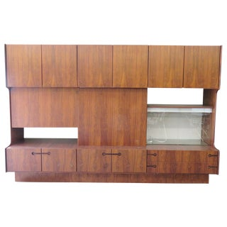 Danish Modern Walnut Wall Unit