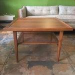 Image of Kipp Stweart Vintage Walnut & Cane Side Table