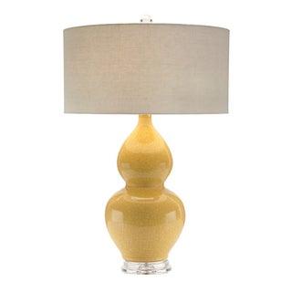 Ocher Crackle Glaze Table Lamp