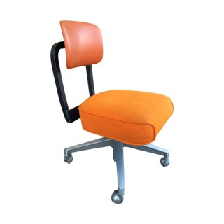 Vintage SteelCase Orange Office Chair