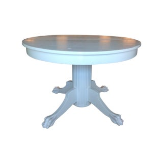 Mid-Century Round Claw Foot Table