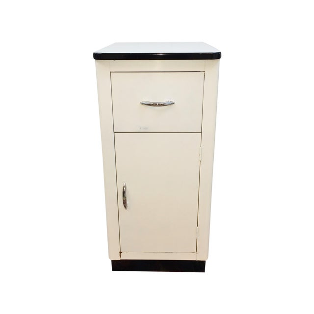 white enamel top kitchen storage cabinet cupboard chairish