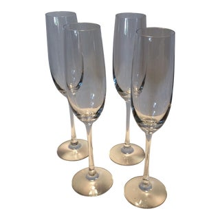 Crystal St. Claire Champagne Flutes - Set of 4