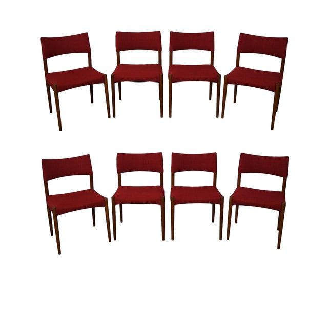 Vintage Danish Modern Teak Dining Chairs - Set of 8 - Image 2 of 11
