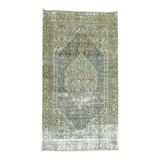 Persian Malayer Distressed Rug- 3'11'' x 6'4''