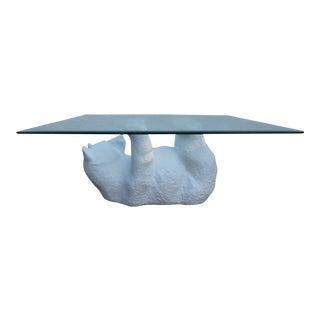 Sculptural Plaster Bear Coffee Table
