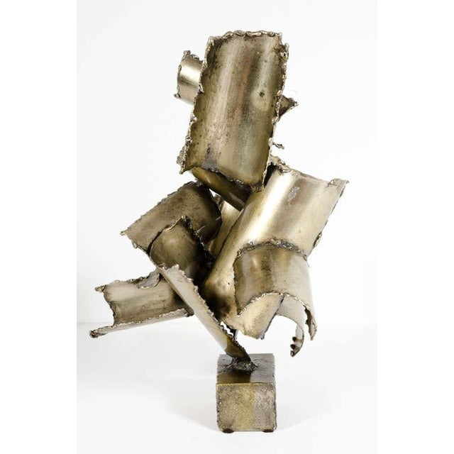 Marcello Fantoni Brutalist Torch Cut Steel Sculpture - Image 9 of 10