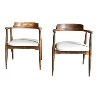 Mid Century Modern Arm Chairs - a Pair