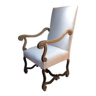 French Painted Finish Throne Chair