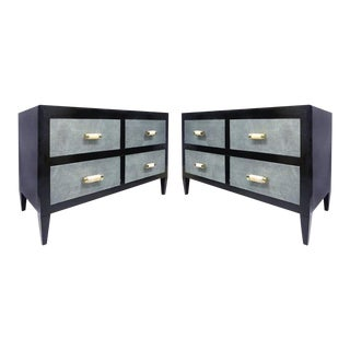 Art Deco Chests of Drawers with Shagreen Clad Drawers & Bone & Silver Handles