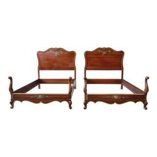 Vintage Union National French Provincial Twin Beds - a Pair