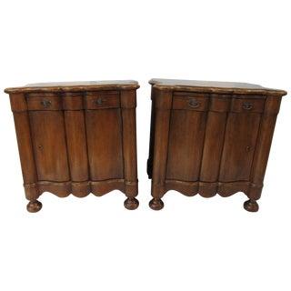 Italian Style Wood End Tables - A Pair